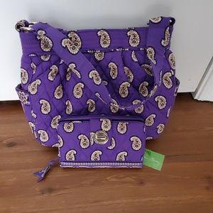 Vera Bradley bag /wallet Simply Violet